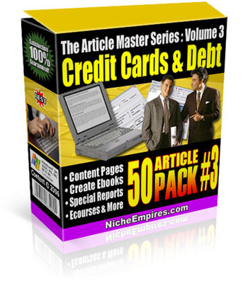 Product picture Credit Cards & Credit Card Debt plr Articles Download