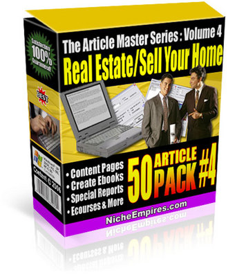 Product picture Real Estate & Sell Your House Plr Articles Download